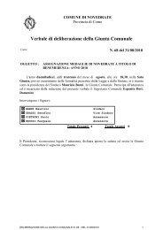 Verbale di deliberazione della Giunta Comunale - Comune di ...