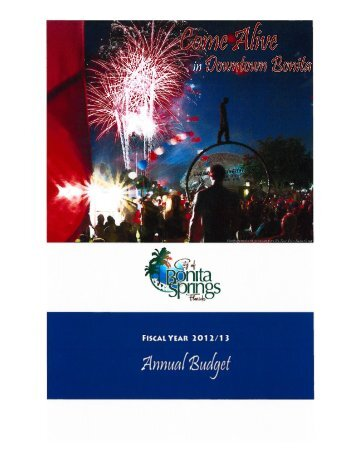 7-17-12 Proposed Budget Draft - City of Bonita Springs