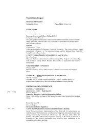 Massimiliano Dragoni Personal Information EDUCATION ...