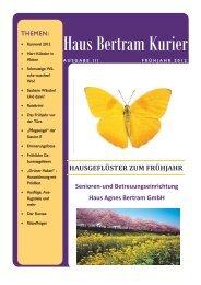 """flug stand im Zeichen des """"Nationalparks Eifel"""". - Haus Agnes Bertram"""
