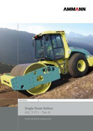 Single Drum Rollers ASC 7-17 t - Tier 4i - SimmaRent
