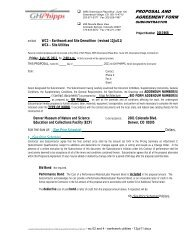 DMNS ECF Bid Form - WC 02 and 4 - Earthwork Utilities