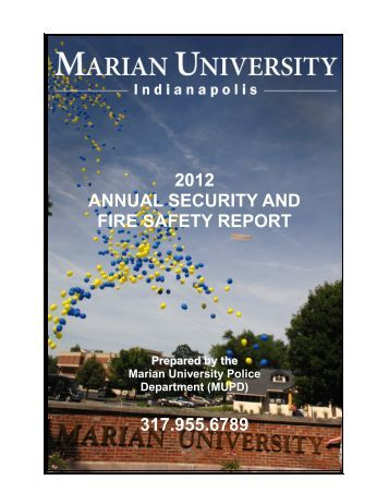 Annual Security and Fire Safety Report - Marian University