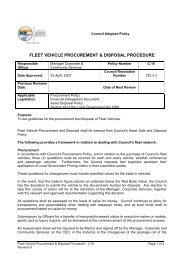 Fleet Vehicle Procurement & Disposal Procedure - Rural City of ...