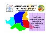 Studio delle principali patologie oncologiche nella Provincia di Rieti