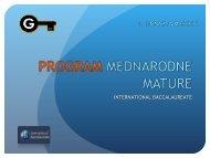 PROGRAM MEDNARODNE MATURE - II. gimnazija Maribor
