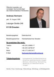 Andreas Hermann Leipziger Straße 248 01139 Dresden - Sachsen