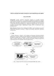 ocena efektywności inwestycji w rozwiązania bpm - PTZP