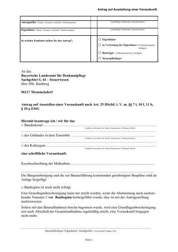 Antrag für Reg.-Bez. Unterfranken, Oberfranken - Bayerisches ...