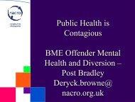 BME Offender Mental Health and Diversion