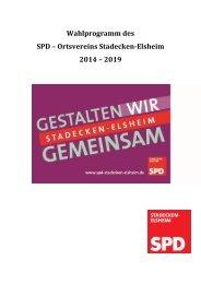 Wahlprogramm der SPD Stadecken-Elsheim 2014