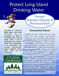 Protect Long Island Drinking Water - Citizens Campaign for the ...