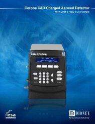 Corona CAD Charged Aerosol Detector Brochure - Dionex