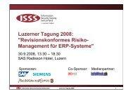 Einführung in die ISSS Luzerner Tagung 2008