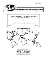 Country of Origin Labeling: A Legal and Economic Analysis