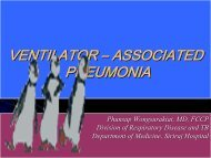 Ventilator – Associated Pneumonia Pathogenesis