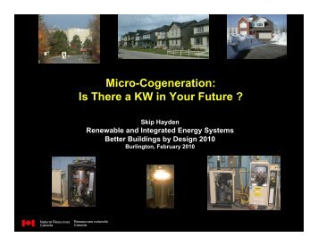 Micro-Cogeneration: Is There a KW in Your Future - Efficiency Vermont