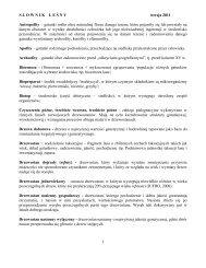 Słownik leśny - Stary serwis Wydziału Leśnego SGGW
