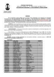 Anuncio de lista Provisional de Admitidos y Excluidos para la Lista ...