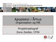Apopleksi i Århus: Organisation og akutte behandlingstilbud.