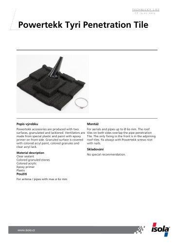 Powertekk Tyri Penetration Tile - Isola
