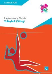 London 2012 Explanatory Guide Volleyball (Sitting)