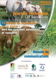 Journée technique Cap' bovin viande - Chambre d'agriculture de l ...