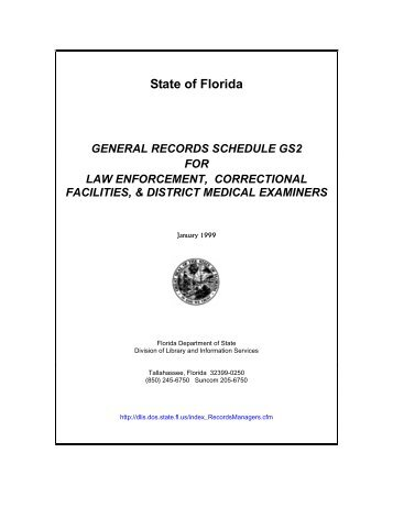 general records schedule gs2 law enforcement - Office of District ...