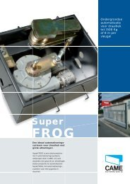 SuperFROG motor (Pdf) - Came