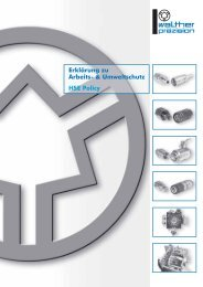 Erklärung zu Arbeits - Carl Kurt Walther GmbH & Co. KG