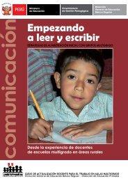 Empezando a leer y escribir - La Educación Básica Regular - EBR