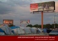 AGIRE RESPONSE IN HAITI: EVALUATION REPORT (Revised)
