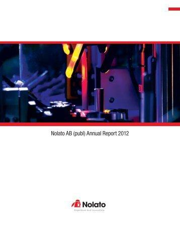 Nolato Annual Report 2012