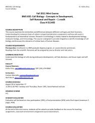 Fall 2011 Mini Course BMS 692: Cell Biology - Concepts in ...