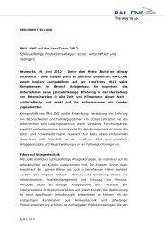 RAIL.ONE auf der InnoTrans 2012 ... - RAIL.ONE GmbH