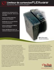 Limiteur de surtensionFLEXwareMC - OutBack Power Systems