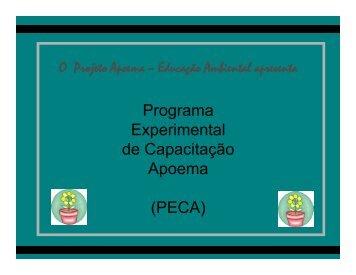 Programa Experimental de Capacitação Apoema ... - Projeto Apoema