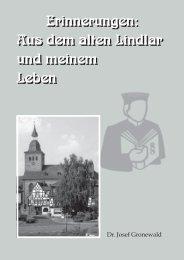 Erinnerungen: Aus dem alten Lindlar und ... - Gemeinde Lindlar
