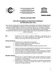Réunion annuelle 2003 Vers des conceptions et approches ... - ICAE