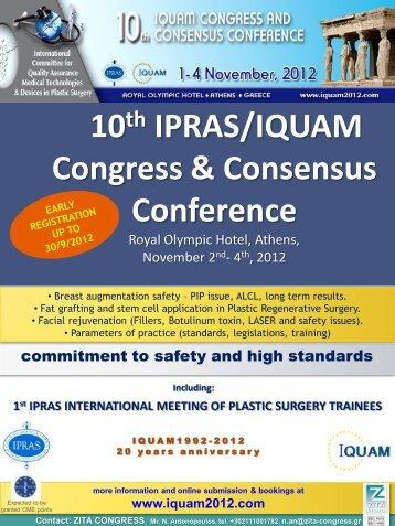 10th IPRAS/IQUAM Congress & Consensus Conference
