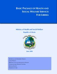 Basic Package of Health and Social Welfare Services for ... - basics