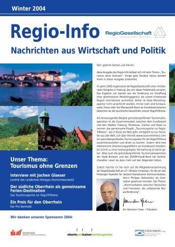 Regio-Info Winter 2004 - Freiburger Regio-Gesellschaft