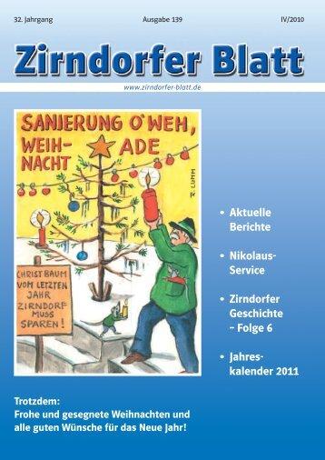 Aktuelle Berichte • Nikolaus - Das Zirndorfer Blatt