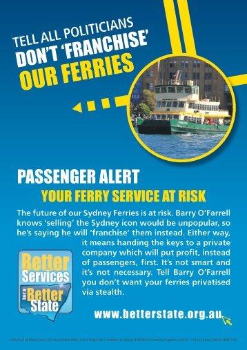 Keep Sydney Ferries in Public Hands