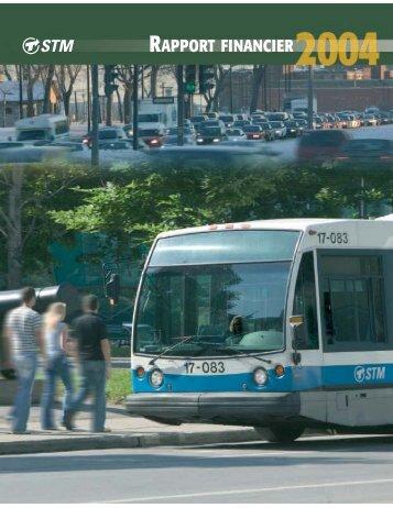 Rapport financier 2004 - Société de transport de Montréal