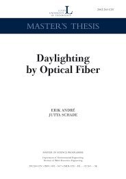 Daylighting by optical fiber