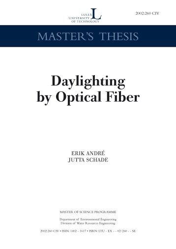 Daylighting by optical fiber