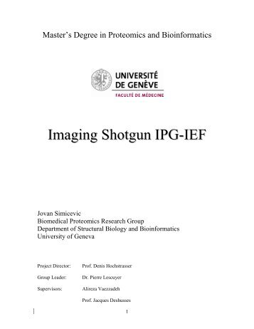 Imaging Shotgun IPG-IEF - Master's degree in Proteomics and ...
