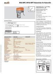 NV24-MFT, NVY24-MFT Hubantriebe für Hubventile - - Belimo