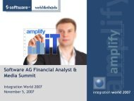 Software AG Financial Analyst & Media Summit